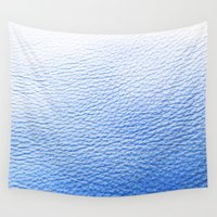 leather Wall Tapestries featuring Blue Leather by The Wellington Boot