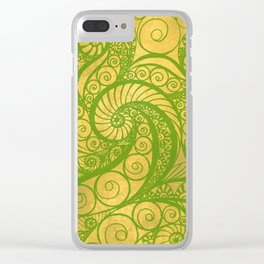 Green Shell Clear iPhone Case