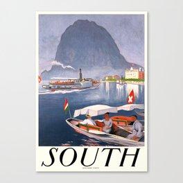 1924 Switzerland South Travel Poster Canvas Print