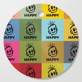 HAPPY SQUARES Cutting Board