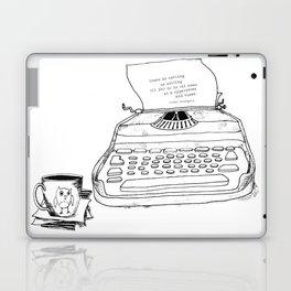 Earnest Hemingway Writing on Typewriter Laptop & iPad Skin