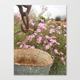 Bucket of Flowers Canvas Print