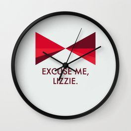 Lizzie Bennet Diaries- Darcy Wall Clock