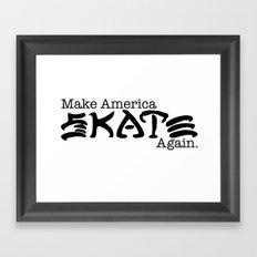Skate Again Framed Art Print