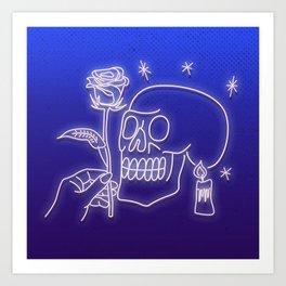 Flowers to skull Art Print