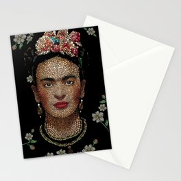 Frida Kahlo dots Stationery Cards