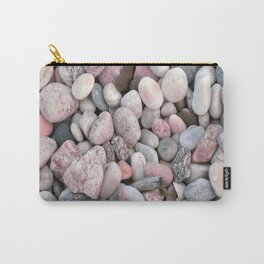 Pink & Gray Rocks Carry-All Pouch