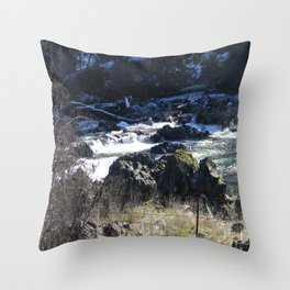 Winter scenery in Northern California... Throw Pillow