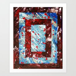 Jones Does Art | Blood Red | Acrylic on Canvas Art Print