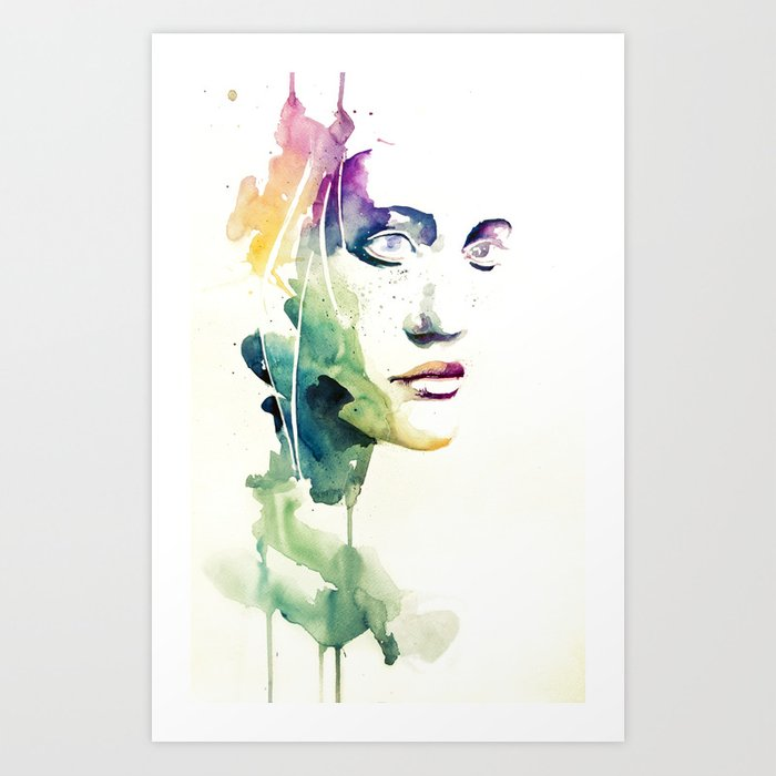Discover the motif NON VEDI NIENTE - NIENTE by Agnes Cecile as a print at TOPPOSTER