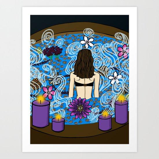 Hot Water:  Therapeutic Benefits of Soaking Art Print