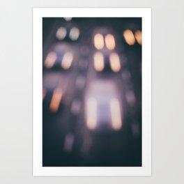 Bokeh Highway Art Print
