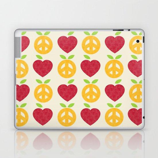 Apple and Orange - Love and Peace Laptop & iPad Skin