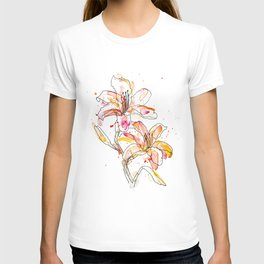 Day Lilies - Watercolor and ink T-shirt