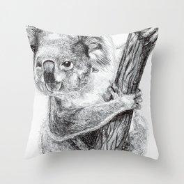 Inktober #7 2017 - Koala Throw Pillow