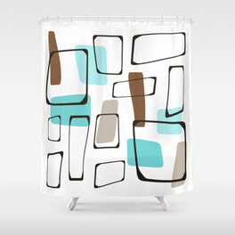 Midcentury Modern Shapes Shower Curtain