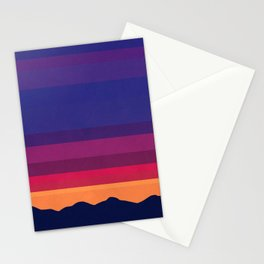 Over The Sunset Mountains Stationery Cards