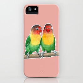 Fischer's lovebirds iPhone Case