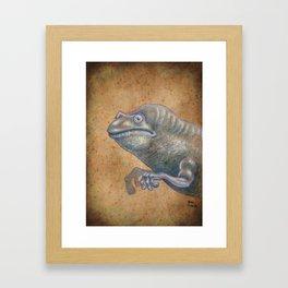 Medieval monster XIV Framed Art Print