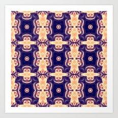 bubble coral mandala Art Print