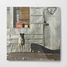 Dog Closed for Biz Metal Print