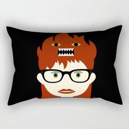 Monster On My Head Rectangular Pillow