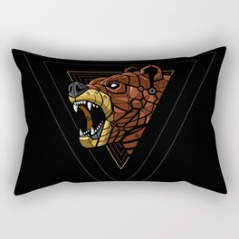 Cyber Bear Punk Rectangular Pillow