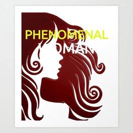 Phenomenal Woman Art Print