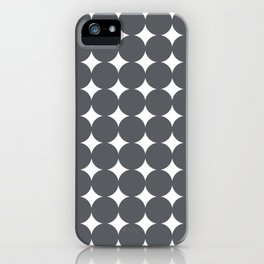 Midcentury Circles and Diamonds 14 iPhone Case