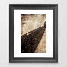 Bottled Up (Wine) Framed Art Print