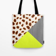 Cheetah Leo stripe and neon Tote Bag