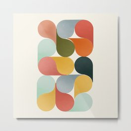 Shapes of color - abstract Metal Print