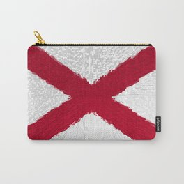 Extruded flag of Alabama Carry-All Pouch