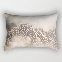 Golden Cloud Rectangular Pillow