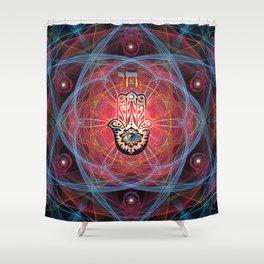 Hamsa - CHAI - Sacred Geometry Shower Curtain