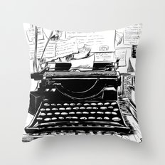 Shakespeare and Company Throw Pillow