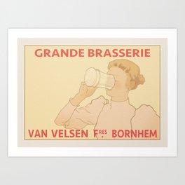 Grande Brasserie Art Print