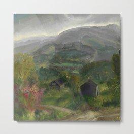 "George Wesley Bellows ""Old Barn - Grey Day"" Metal Print"