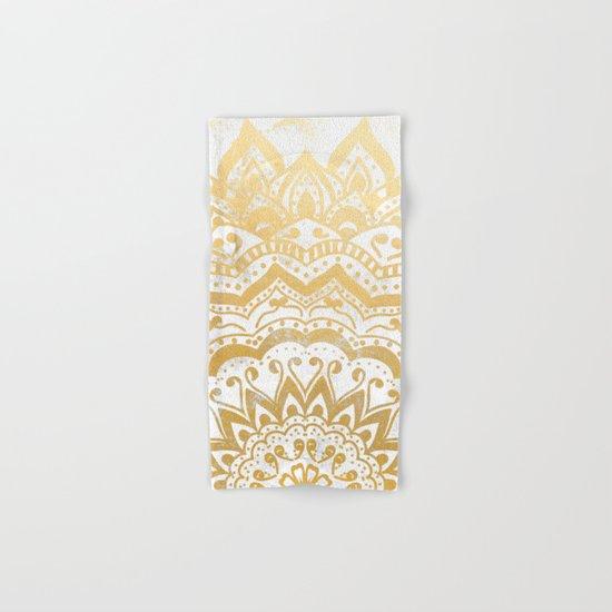 GOLD ORION JEWEL MANDALA Hand & Bath Towel