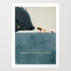 The Adventures of Baron Munchausen Art Print