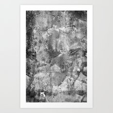 Abstract Concrete Grunge Art Print