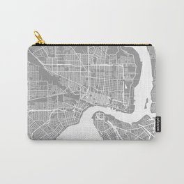 Jacksonville map grey Carry-All Pouch