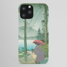 Anime and vintage japanese woodblock mashup iPhone Case