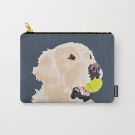 Golden Retriever with tennis ball Carry-All Pouch