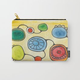Watercolor Orbs N Lines 13 Carry-All Pouch