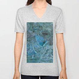 Oceania Teal & Blue Marble Unisex V-Neck