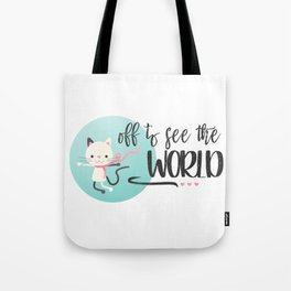 Traveling Kitty Tote Bag