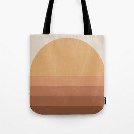 Minimal Retro Sunset / Sunrise - Desert Orange Tote Bag