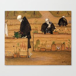 Hugo Simberg - The Garden of Death 1896 Canvas Print