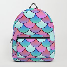 Scales Pattern Fish Decoration Backpack